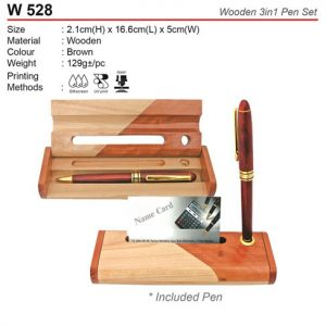 3 in 1 Wooden Pen Set (W528)