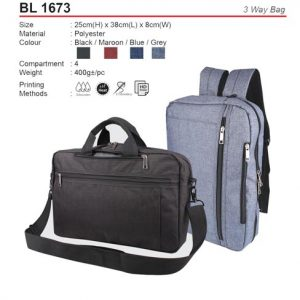 3 way bag (BL1673)