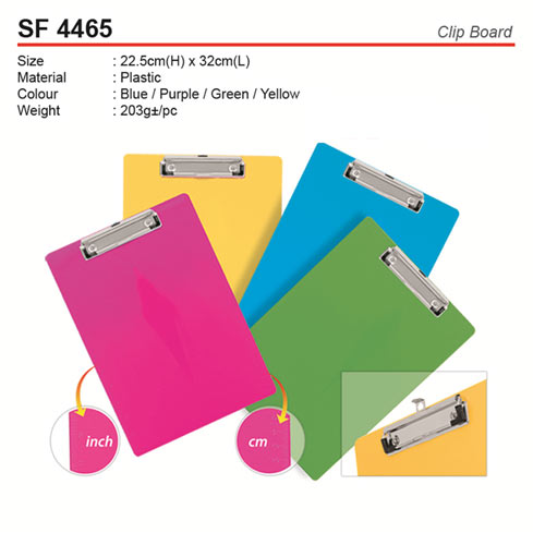 Plastic Clipboard (SF4465)
