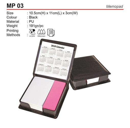 Memobox with Sticky Note (MP03)