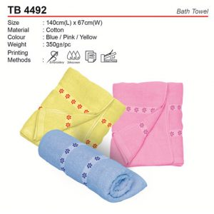 Pattern Bath Towel (TB4492)