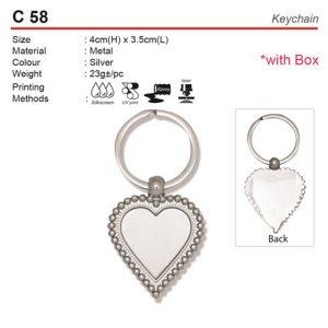Love Shape Metal Keychain (C58)
