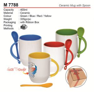 Ceramic Mug with Spoon (M7788)