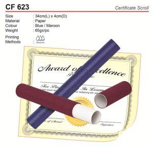 Certificate scroll holder (CF623)