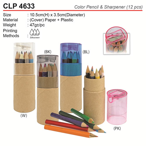 Color Pencil with Sharpener (CLP4633)
