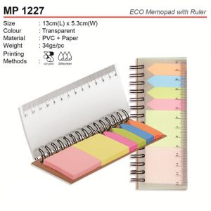 Eco Post it Note with ruler (MP1227)