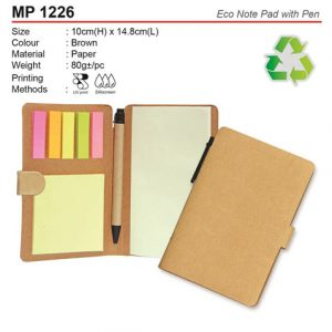 Eco Notepad with Pen (MP1226)