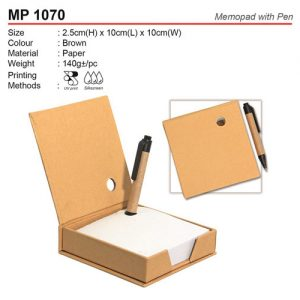 Recycle Memo Box wih Pen (MP1070)
