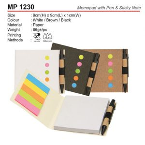 Eco Memopad with Pen (MP1230)