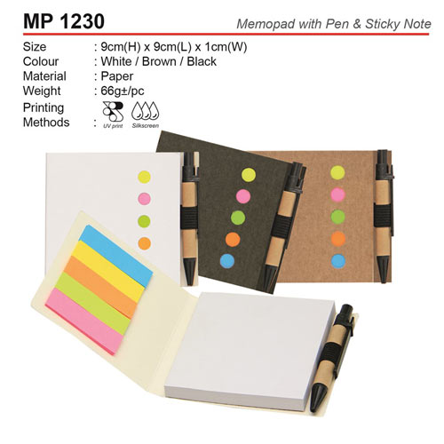 Eco Memopad with Pen (MP1230)