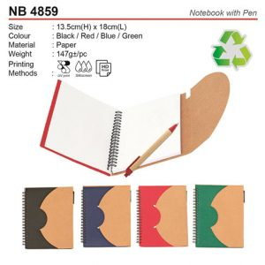 Trendy Notebook with Pen (NB4859)