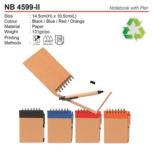 Eco Notebook with Pen (NB4599-II)