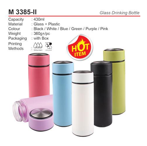 Glass Drinking Bottle (M3385-II)