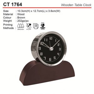 Wooden Table Clock (CT1764)
