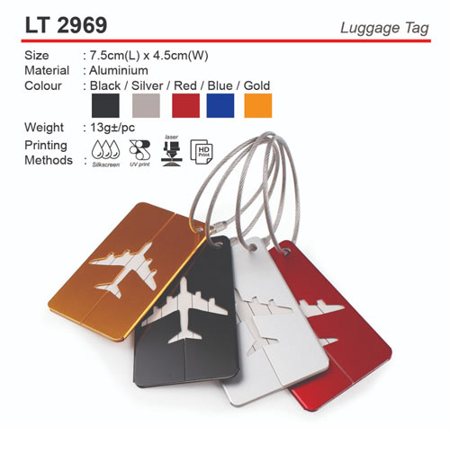 Metal Luggage Tag (LT2969)