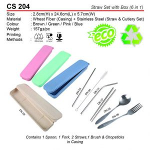 6 in 1 Straw Set (CS204)