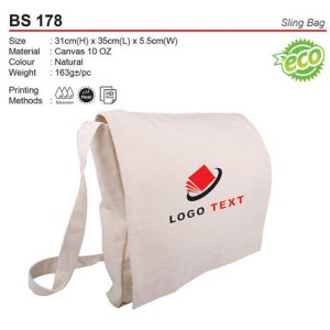 Cotton Sling Bag (BS178)