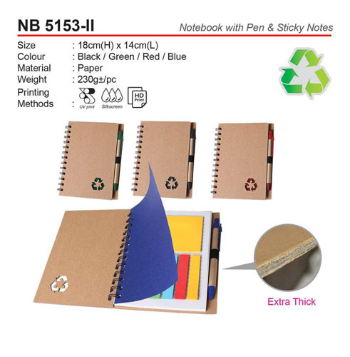 Notebook with pen & sticky notes (NB5153-II)