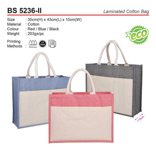 Cotton bag with Pocket (BS5236-II)