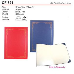 Budget A4 Certificate Holder (CF621)