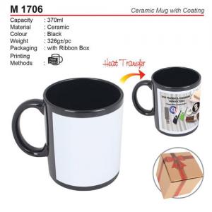 Black Ceramic Mug with Coating (M1706)